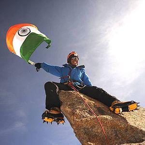 Arjun Vajpai - Arjun on top of Mount Kalam.