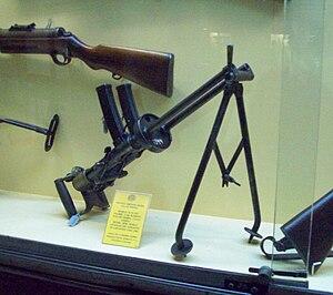 Villar-Perosa aircraft submachine gun - Image: Armamento Museo de Armas de la Nación 114