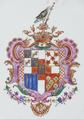 Armas de António de Sousa Falcão de Saldanha Coutinho - Porcelana do Reinado Qianlong (1736-1795).png