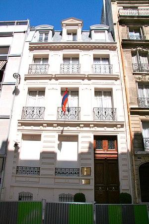 Armenia–France relations - Armenian embassy in Paris