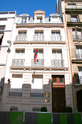 Armenia–France relations - Armenian embassy in Paris