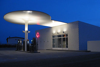 Filling station - The Skovshoved Filling Station, in operation since 1935, in Copenhagen, Denmark
