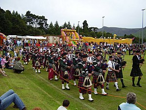 English: Arran highland games 2007 There are t...