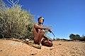 Arri Raats, Kalahari Khomani San Bushman, Boesmansrus camp, Northern Cape, South Africa (20352388089).jpg