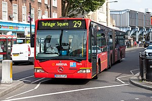 London Buses route 29 - Arriva London Mercedes-Benz O530G in September 2011