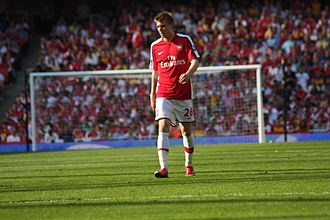 Nicklas Bendtner - Playing for Arsenal against Stoke City in May 2009
