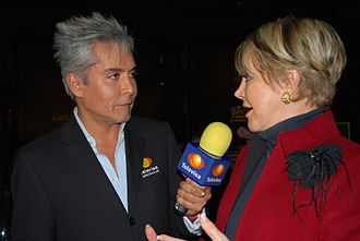 Televisa - Interview with Lolita Ayala at the charity auction Arte en Barricas sponsored by Tequila Herradura in Mexico City