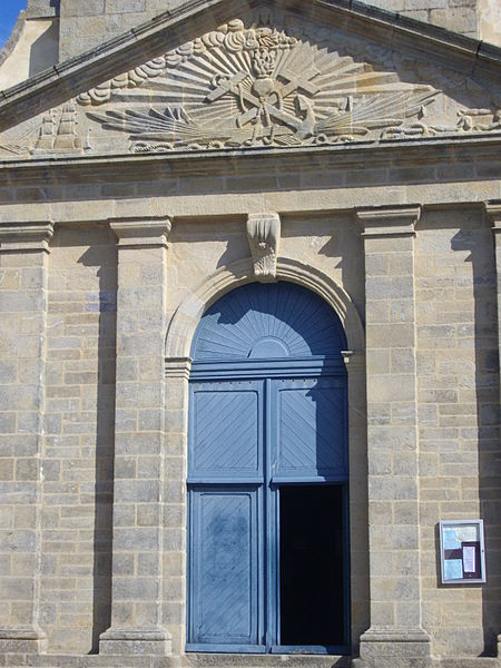 Door of Our Lady church in Arzon (Morbihan, France)