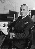 Assistant Chief of Naval Staff. March 1944, Admiralty, Rear Admiral Reginald Maxwell Servaes, Cbe, Assistant Chief of Naval Staff, in His Office at the Admiralty. A22630.jpg
