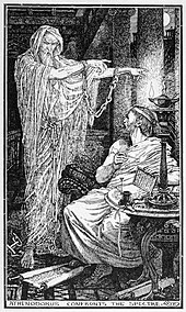 Athenodorus and the ghost, by Henry Justice Ford, c.1900