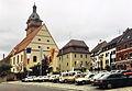 Auerbach in der Oberpfalz (Innenstadt, Turm der Kirche St.Johannes der Täufer, 13.06.93).jpg