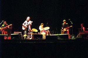 Augie March playing at Rod Laver Arena in support of Crowded House in November 2007