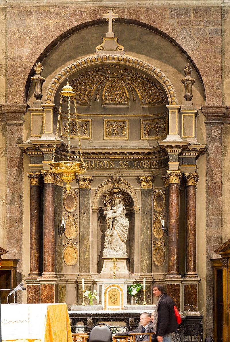 Français:  Autel de la Vierge.