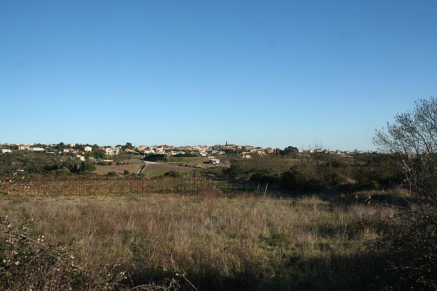 Autignac (Hérault) - vue générale depuis l'ouest