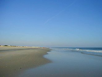 Geography of New Jersey - Beach at Avalon.