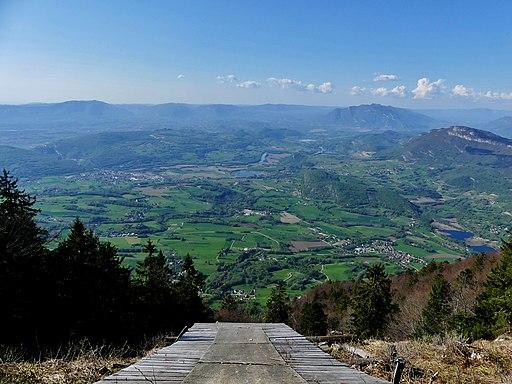 Avant-Pays Savoyard depuis le Mont du Chat (avril 2018)
