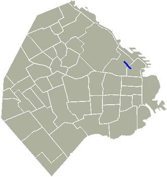 Avenida Alvear - Location of Avenida Alvear in Buenos Aires.