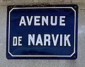 Avenue de Narvik (Belley), panneau de rue.jpg