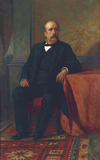 George Averoff - George Averoff, oil painting by Pavlos Prosalentis the Younger (1857-1894); done from a photograph.