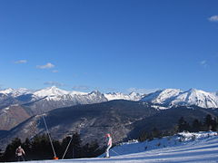 "The blue piste ""Bonascre"" at Ax 3 Domaines"