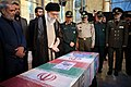 Ayatollah Khamenei in Funeral of Mohsen Hojaji in Tehran 01.jpg
