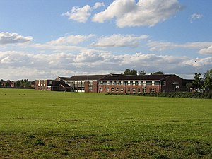 Aylesford School - School from Stratford Road, Warwick