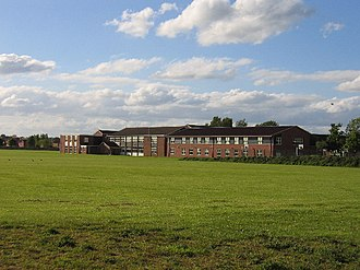 Aylesford School - School from Stratford Road, Warwick