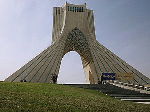 Tower - Azadi Tower in Tehran, Iran; an example of Iranian architecture of various periods