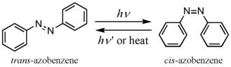 Photochromism - Azobenzene photoisomerization.