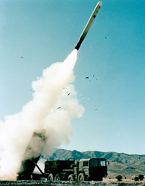 868th Tactical Missile Training Squadron - Training launch of a BGM-109G Gryphon from its Transporter-Erector-Launcher at the Utah Test and Training Range in November 1982