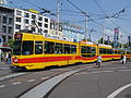 BLT Tram car 210, line 11 towards Aesch at Basel, Switzerland.jpg