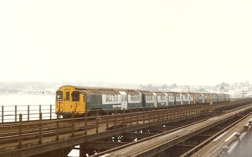 BR Class 485 train on Ryde Pier IoW