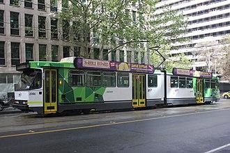 B-class Melbourne tram - Image: B 2086 PTV livery Sep 2014