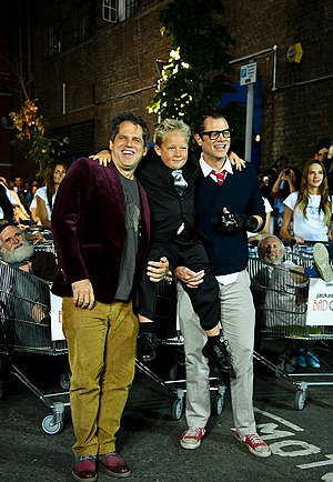 Jackass Presents: Bad Grandpa - Jeff Tremaine, Johnny Knoxville, and Jackson Nicoll at a screening for the film