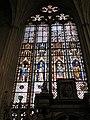 Baie 7 - Vitrail de saints Marcellin, Maurice, Silvestre et Eusèbe - chapelle de la Vierge, cathédrale de Rouen.jpg