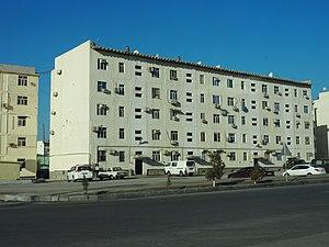 Balkanabat - Apartment blocks in Balkanabat