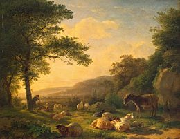 Balthasar Paul Ommeganck - Landscape with a Flock of Sheep - WGA16646.jpg
