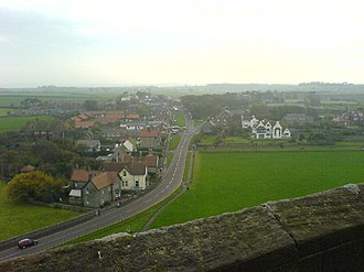 Bamburgh - Image: Bamburgh from the castle geograph.org.uk 72471