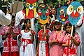 Bangladeshi children with Pohela Boishakh placard at Pohela Boishakh celebration (02).jpg
