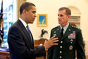 Stanley A. McChrystal - President Obama and McChrystal in the Oval Office in May 2009.