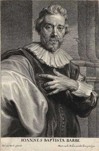 Schelte a Bolswert - Portrait of Jan-Baptist Barbé, after Anthony van Dyck, ca. 1636-1641.