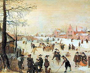 Skaters, Kolf players and Sledges on the Ice