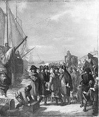 Anno 1795. Het vertrek van Prins Willem V te Scheveningen