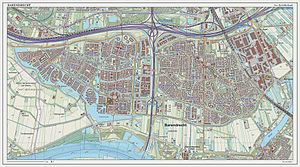 Barendrecht - Topographic map of Barendrecht (town), Sept. 2014