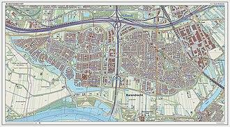 Barendrecht - Topographic map of Barendrecht (town), Sept. 2014