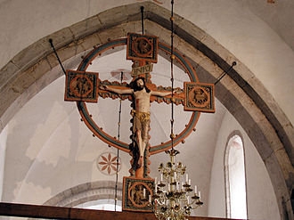 Barlingbo Church - Image: Barlingbo Triumph Crucifix 01