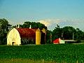 Barn and Two Silos North of Portage - panoramio.jpg