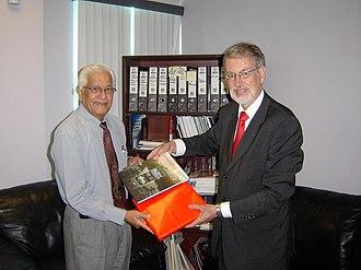 Basdeo Panday - Basdeo Panday and Mikko Pyhälä Ambassador of Finland
