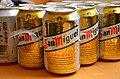 Bata, 2015-02 San Miguel cans glistening in the heat of Bata (16325450658).jpg