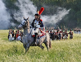 IV Cavalry Corps (Grande Armée) - Horseman outfitted as a French cuirassier in 2011.